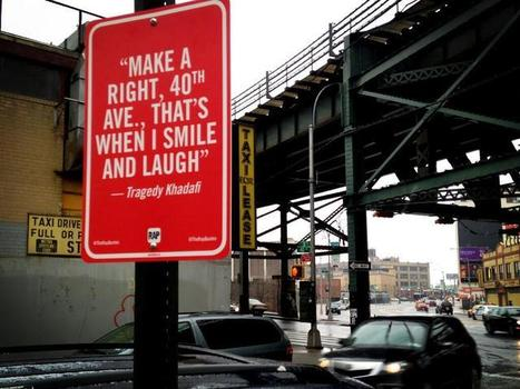 Street Art Project Maps Rap Lyric Shout Outs Around NYC | bancoideas | Scoop.it
