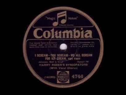 I scream - you scream - we all scream for ice cream - Harry Reser's Syncopators - Take 1! (1927) - YouTube | fitness, health,news&music | Scoop.it