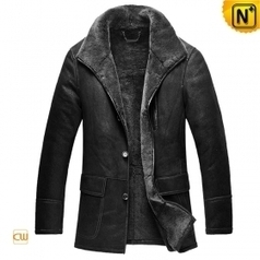 Mens Shearling Coat Black CW878579 | Men's | Scoop.it