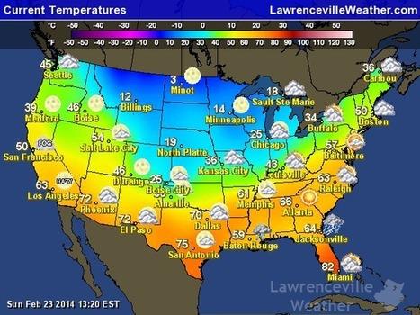 Current Weather temperatures   Special Purpose Maps   Scoop.it