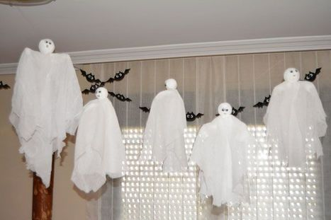 Fantasmas voladoras para Halloween - BricoBlog | Manualidades | Scoop.it