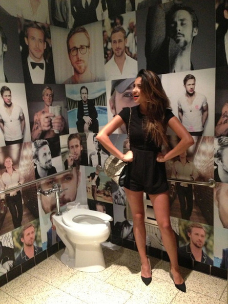Un restaurant recouvre ses toilettes de posters Ryan Gosling et crée un véritable buzz | streetmarketing | Scoop.it