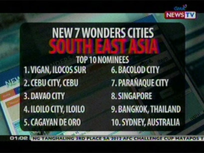 PHL leads in New7Wonders Cities campaign | The Traveler | Scoop.it