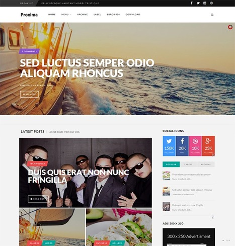 Proxima Responsive Blogger Template | Blogger Templates | Scoop.it