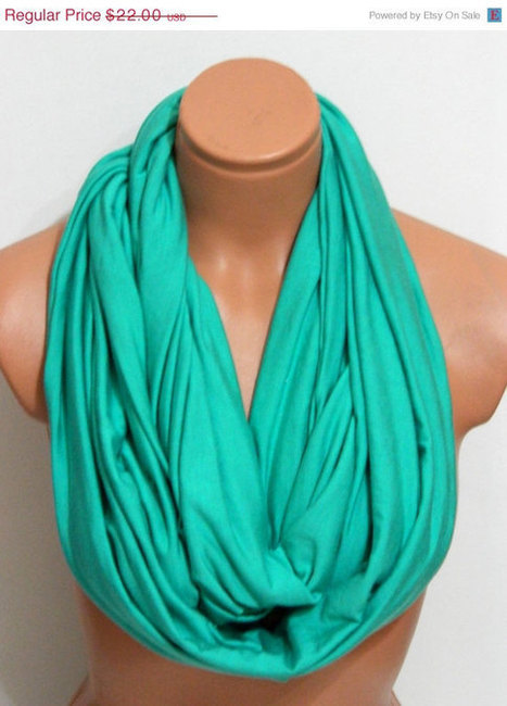 ON SALE Neon Infinity Scarves, Nomad scarf,textile neon mint Scarf,Loop Scarf,Circle Scarf,Cowl Scarf,Nomad Cowl.... by WomensScarvesTrend | women fashion | Scoop.it