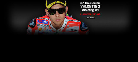 VALENTINO ROSSI LIVE ON DAINESE.COM - December 21 | Ductalk Ducati News | Scoop.it