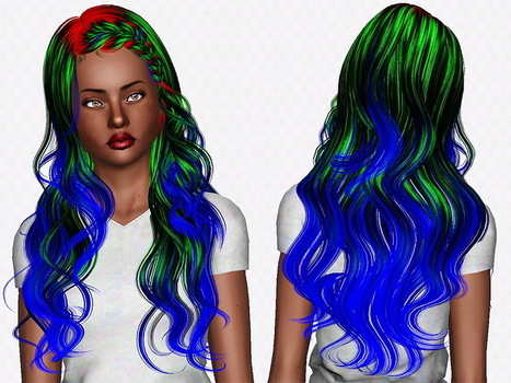 Newsea`s J063 Lullaby hairstyle retextured by Chantel Sims | Sims 3 Downloads | Scoop.it