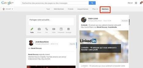 L'onglet Mentions arrive sur la version Web de Google+ | Social Media in organizations | Scoop.it