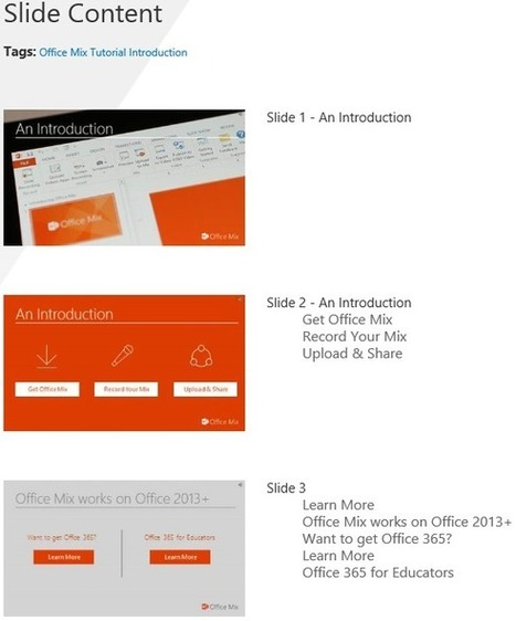 Easier navigation and playback with Office Mix - Office Blogs | EdTech Essentials | Scoop.it