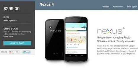 Nexus 4 headed to Play Stores in France, UK, Spain and Australia today | Android Discussions | Scoop.it