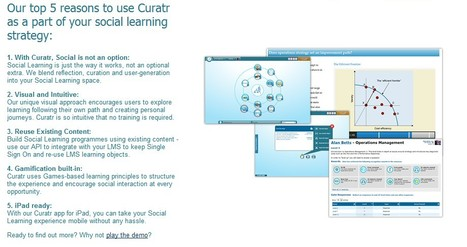 Create Rich, Active and Social eLearning with Curatr | 21st Century Tools for Teaching-People and Learners | Scoop.it