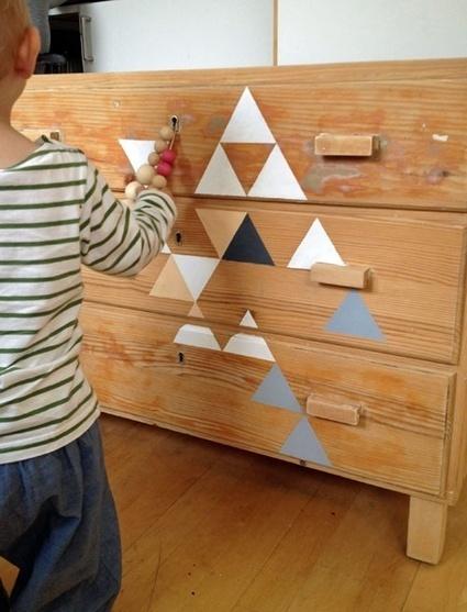 Triangles colorés fait maison pour une commode d'enfants | Stickerzlab, des astuces et des idées déco pour tous | décoration & déco | Scoop.it