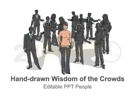 Wisdom of the Crowds - Hand-drawn Illustrations PPT Slides   clicks   Scoop.it
