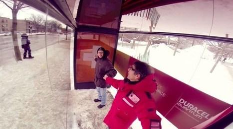 Duracell réchauffe Montréal avec un abribus fonctionnant à la chaleur humaine | streetmarketing | Scoop.it