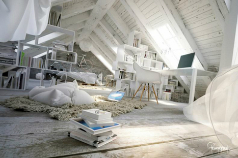 Awesome Atmospheric White Attic Loft - Decoholic | What Surrounds You | Scoop.it