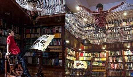 Un hamac géant à la bibliothèque qui fait lire les enfants | Bibliothèques & Livres | Scoop.it
