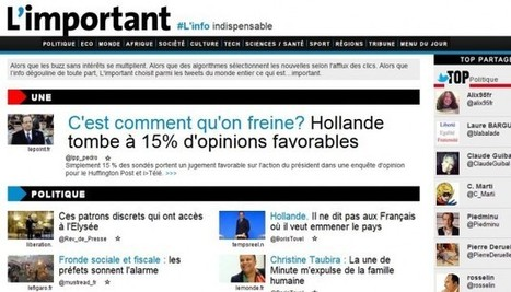 Lancement de L'important.fr : un appel pour une plus grande sélectivité de l'information ? | MédiaZz | Scoop.it