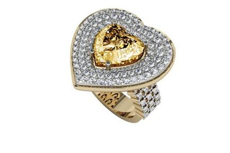 Buy Juliet Golden Topaz Heart Ring | Diamond Jewellery India | Scoop.it