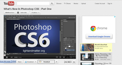 http://www.youtube.com/watch?v=hMsbDiJ8d6k&feature=g-vrec | 23 Cool New Features in Adobe Photoshop CS6 | Scoop.it