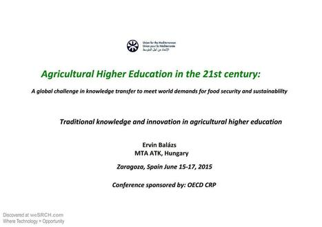 Agricultural Higher Education to meet World Demand for Food Security and Sustainablility, Energy   afterhours.wesrch.com (Entertainment, Sports, Fashion, Parenting)   Scoop.it