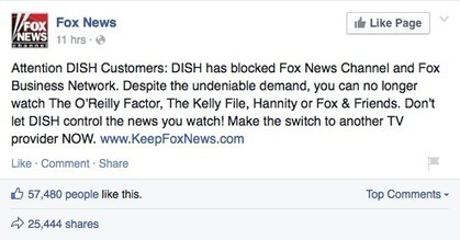 Fox News Is Banned From Dish Network: Satellite Provider Refuses To Cave To Network's Extortion | technology | Scoop.it