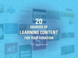 20 Free Sources of Learning Content for Your Curation - HT2 | Living & Learning | Scoop.it
