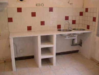 Cuisine en siporex ou ciment cellullaire do i for Meuble salle de bain en siporex