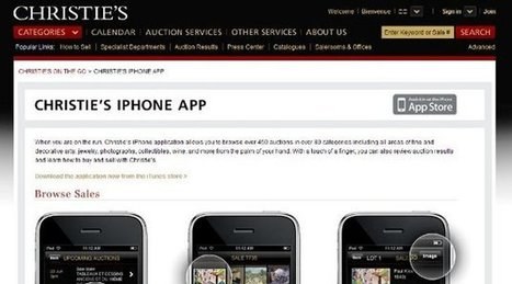 IL Y A 6 ANS...Les enchères de Christies sur iPhone | Clic France | Scoop.it