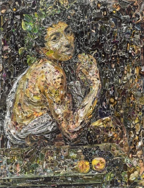 Vik Muniz Recreates Famous Artworks Using Thousands of Torn Magazine Scraps | Strange days indeed... | Scoop.it