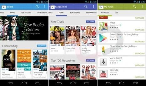 Une capture d'écran du nouveau Google Play - FrAndroid   Android's World   Scoop.it