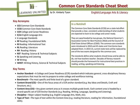 Quick Reference: A Common Core Cheat Sheet | Information about Common Core | Scoop.it