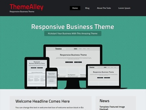 WordPress › BizSphere « Free WordPress Themes | WordPress Themes | Scoop.it