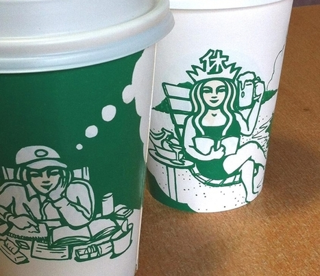 Artist Draws on Starbucks Cups, Making the Mermaid the Heroine of Countless Amazing Scenes | DMCS - Don Mouky's Chop Shop | Scoop.it