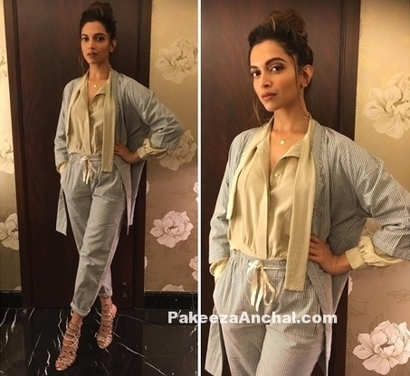 Deepika Padukone in Trendy Pant Suit by Nimish Shah | Indian Fashion Updates | Scoop.it