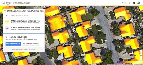 Project Sunroof: mapping the planet's solar energy potential, one rooftop at a time | Things to come | Scoop.it