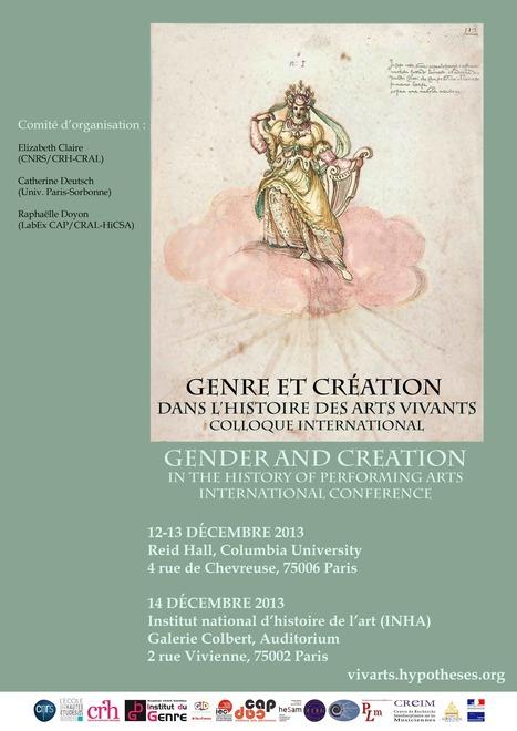 Genre et création dans l'histoire des arts vivants   Recherche universitaire dans le domaine du genre   Scoop.it