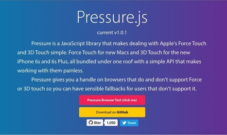 [WEBDESIGN] Pressure JS, une librairie Javascript qui gère la pression appliquée sur un écran | Stratégie digitale : communiquez sur le web avec Manuel GALAN | Scoop.it