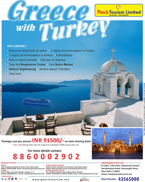 Greece with Turkey | North india tour packages | North India holidays packages | Tourist places in north india | Scoop.it