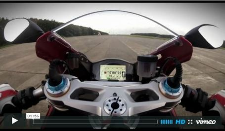 Flat out on a Ducati 1199 Panigale | visordown.com | Desmopro News | Scoop.it