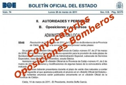Convocatorias Oposiciones Bombero | Oposiciones a bombero | Oposiciones | Scoop.it