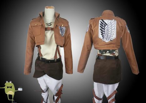 Attack on Titan Eren Jaeger Cosplay Costume + Wig | Attack on Titan Cosplay Costumes | Scoop.it