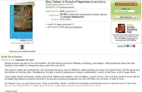 Amazon Best Sellers #1 Ranking For #StoryTellers: In Pursuit of Happiness! | Pecha Kucha & English Language Teaching | Scoop.it