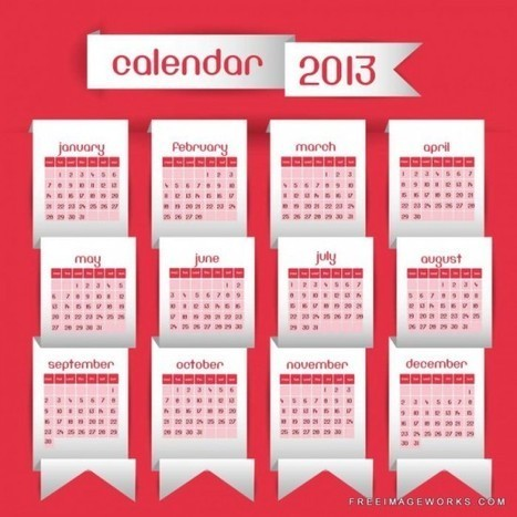 9 Free & Premium 2013 Calendar Vectors | 7plusDezine | Web & Graphic Design | Scoop.it