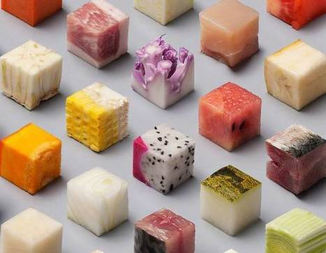 This raw food cut into 98 perfect cubes is a minimalist's dream   cooking   Scoop.it