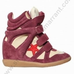 Cheapest With Best Quality GTRID-107J Isabel Marant Bayley Wedge Sneakers In Wine | sneakerisabelmarrant.com | Scoop.it