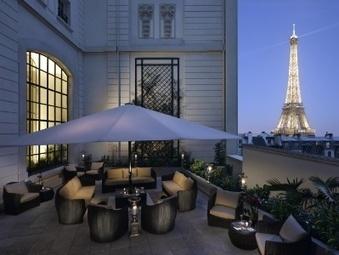 Le Shangri-La Hotel Paris dévoile sa terrasse | Epicure : Vins, gastronomie et belles choses | Scoop.it