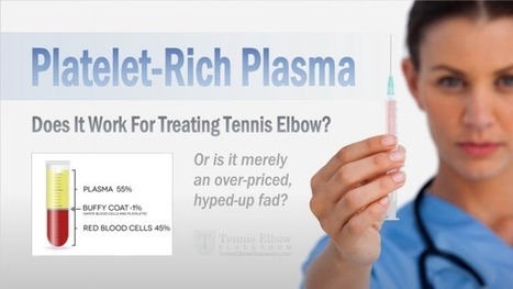 Platelet-Rich Plasma For Tennis Elbow: Does It Work?   About Tennis Elbow   Scoop.it