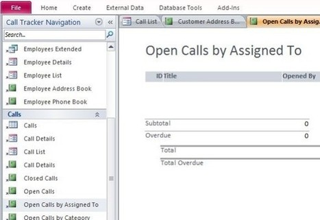 How To Assign And Track Status Of Customer Calls in Microsoft Access | PowerPoint Presentation | Microsoft Access Training | Scoop.it
