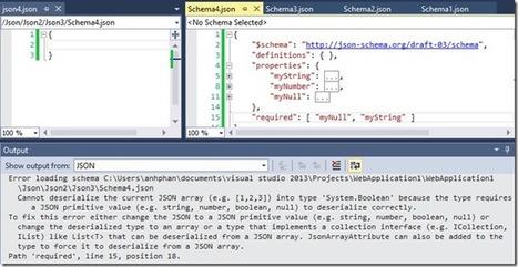 Intellisense for JSON Schema in the JSON Editor - .NET Web Development and Tools Blog - Site Home - MSDN Blogs | .NET Development | Scoop.it