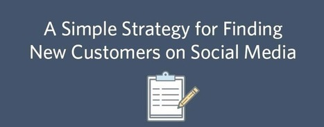 A Simple Strategy for Finding New Customers on Social Media | SM | Scoop.it